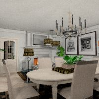 floorplans apartment furniture kitchen dining room 3d