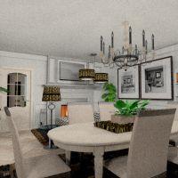 floorplans apartamento mobílias cozinha sala de jantar 3d