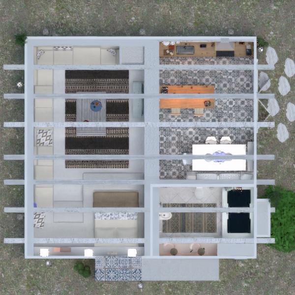 floorplans dom taras meble wystrój wnętrz łazienka sypialnia pokój dzienny kuchnia oświetlenie remont krajobraz jadalnia architektura 3d