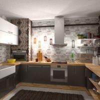 планировки дом мебель кухня столовая 3d