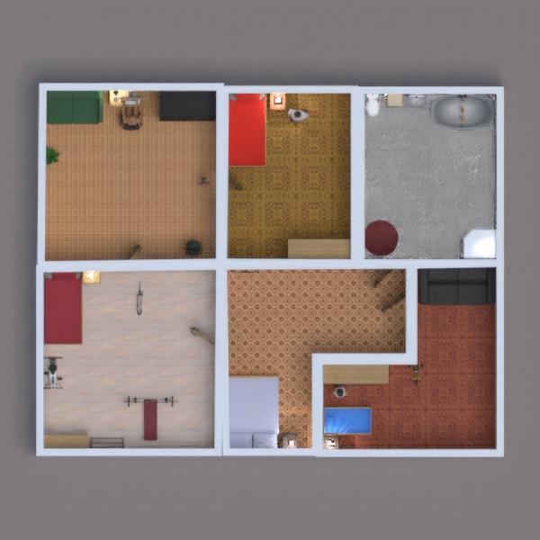 floorplans maison salon garage cuisine salle à manger 3d