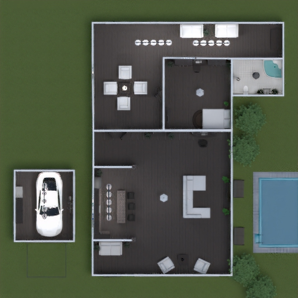 floorplans casa cuarto de baño dormitorio salón garaje cocina 3d