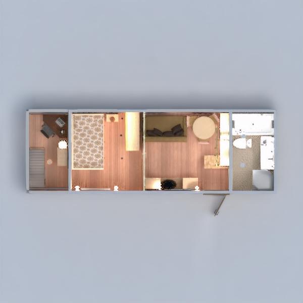 floorplans apartamento varanda inferior mobílias decoração faça você mesmo casa de banho dormitório quarto despensa estúdio patamar 3d