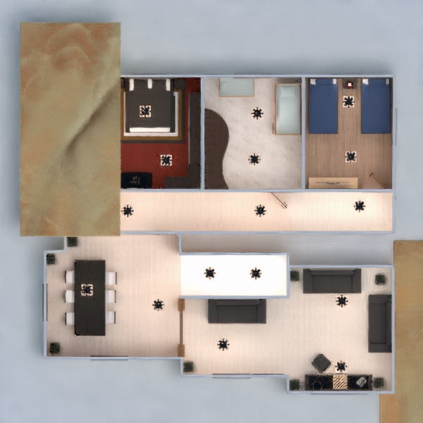 floorplans casa varanda inferior mobílias decoração faça você mesmo casa de banho dormitório quarto garagem cozinha área externa quarto infantil escritório iluminação utensílios domésticos cafeterias sala de jantar despensa estúdio 3d