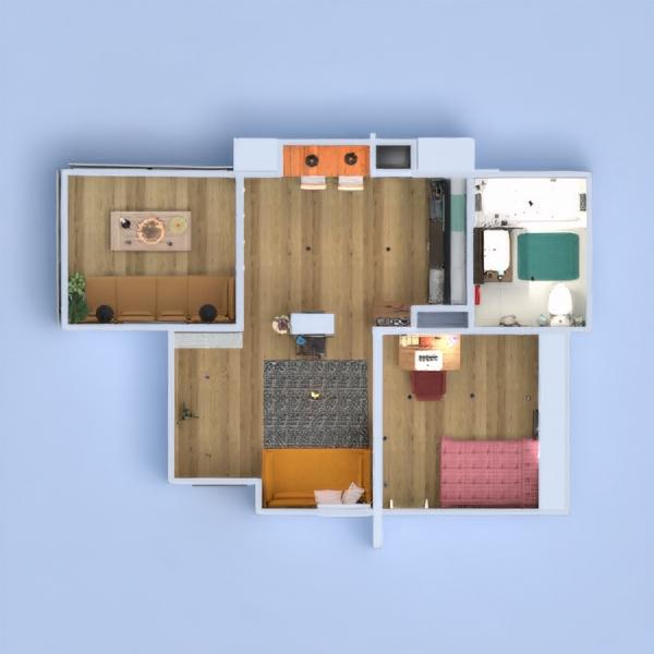 floorplans apartamento varanda inferior mobílias decoração faça você mesmo casa de banho quarto cozinha escritório iluminação sala de jantar arquitetura patamar 3d