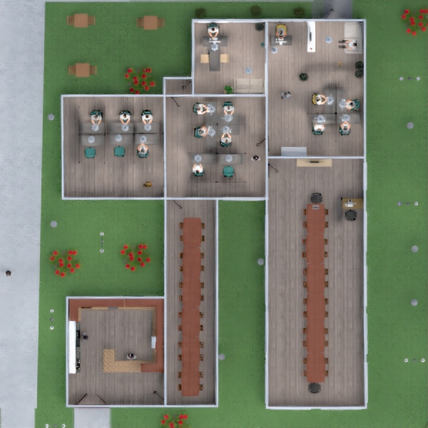floorplans furniture outdoor office landscape architecture 3d