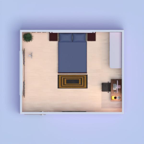 floorplans chambre à coucher salon 3d