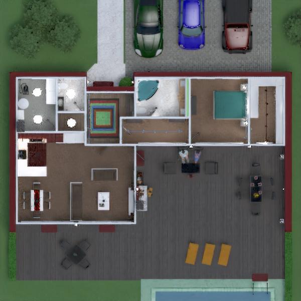 floorplans appartamento casa veranda arredamento bagno camera da letto saggiorno cucina esterno illuminazione sala pranzo architettura vano scale 3d