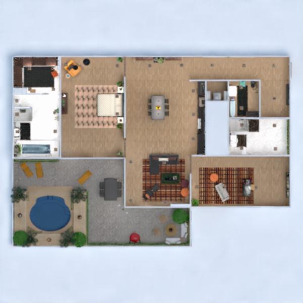 floorplans appartamento veranda arredamento decorazioni angolo fai-da-te bagno camera da letto saggiorno cucina studio ripostiglio 3d