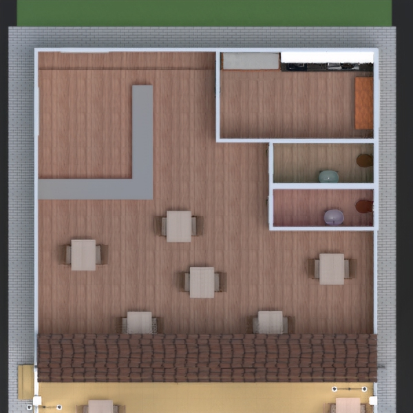 floorplans diy kitchen cafe dining room entryway 3d