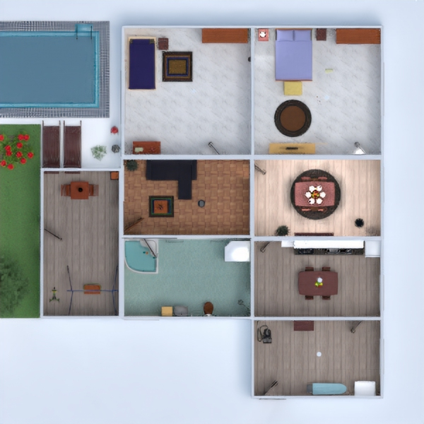 планировки дом мебель ванная прихожая 3d