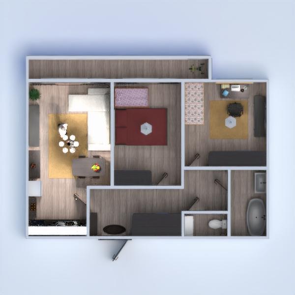 floorplans apartamento muebles cuarto de baño dormitorio salón cocina habitación infantil reforma comedor trastero estudio descansillo 3d