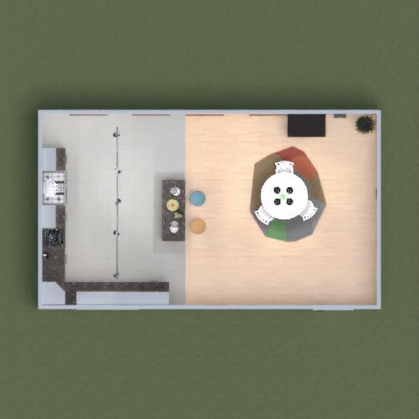 floorplans wystrój wnętrz kuchnia oświetlenie 3d