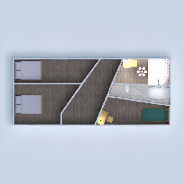 floorplans haus schlafzimmer wohnzimmer küche outdoor 3d