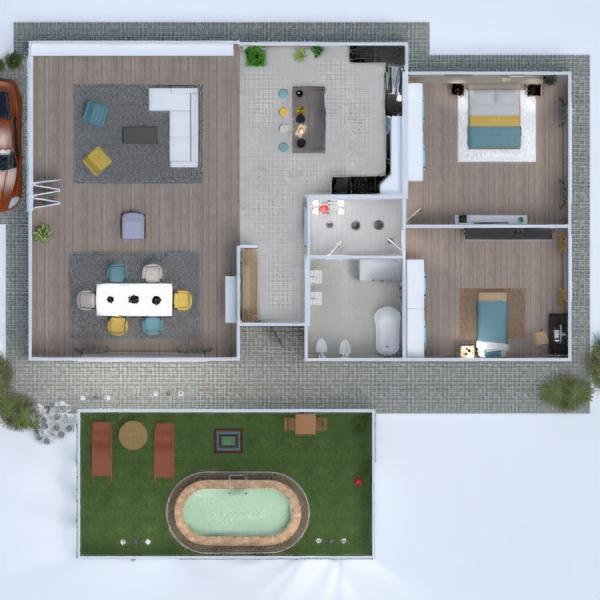 floorplans haus wohnzimmer garage küche büro 3d