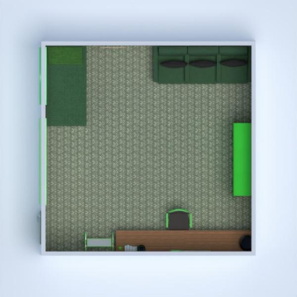 planos decoración dormitorio habitación infantil despacho 3d