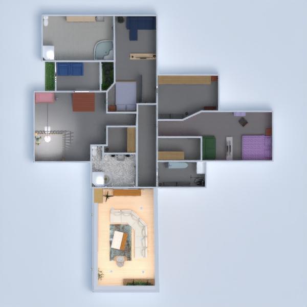 floorplans dom łazienka sypialnia pokój dzienny 3d