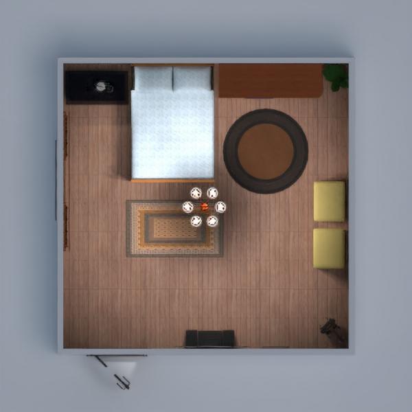floorplans meble pokój dzienny oświetlenie 3d