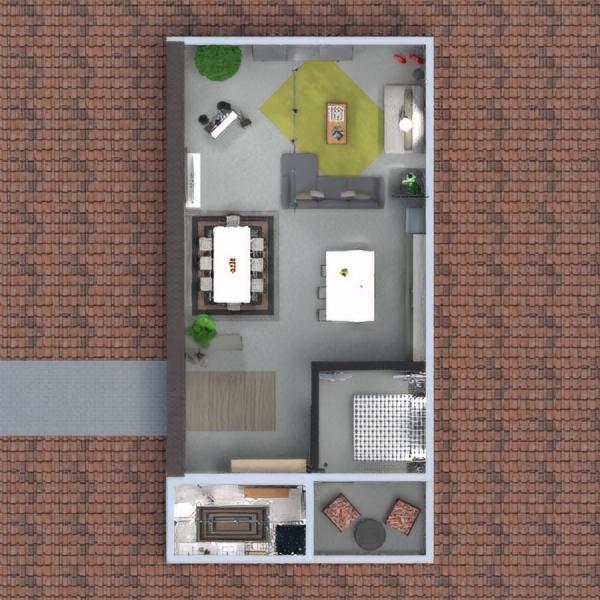 floorplans appartement terrasse meubles décoration 3d