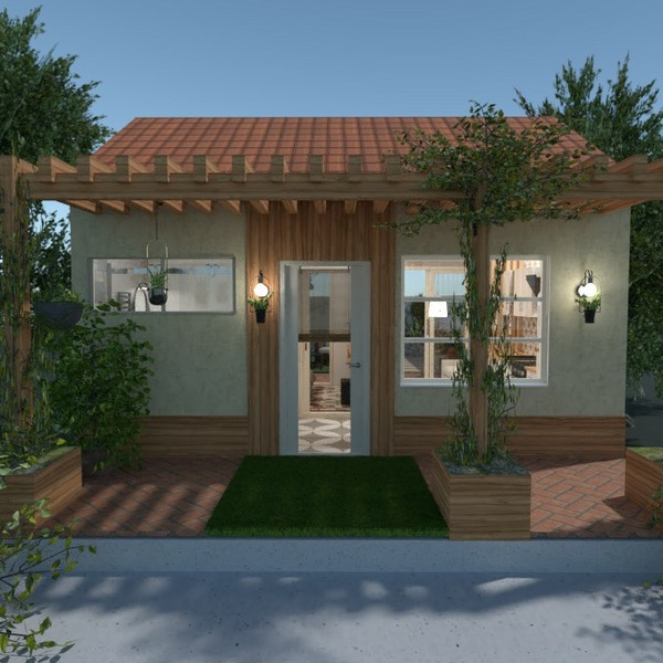 floorplans 独栋别墅 浴室 卧室 客厅 户外 3d