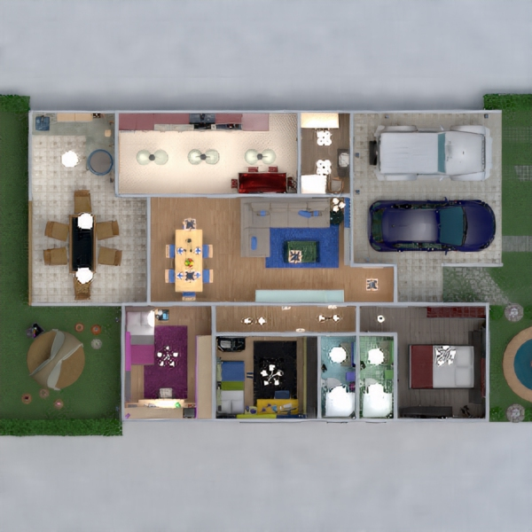 floorplans decor bedroom kids room household dining room 3d