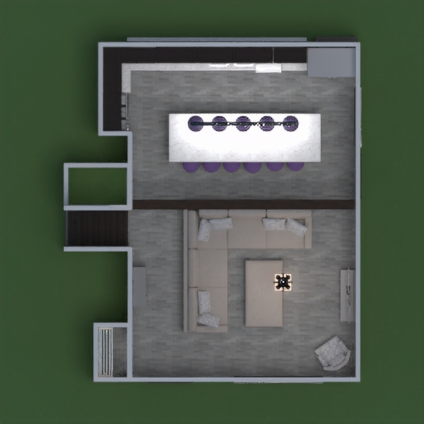 floorplans living room kitchen household entryway 3d
