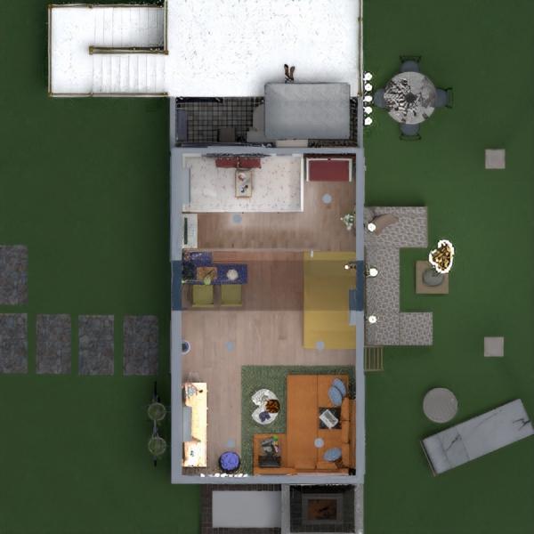 планировки дом терраса декор гостиная улица 3d