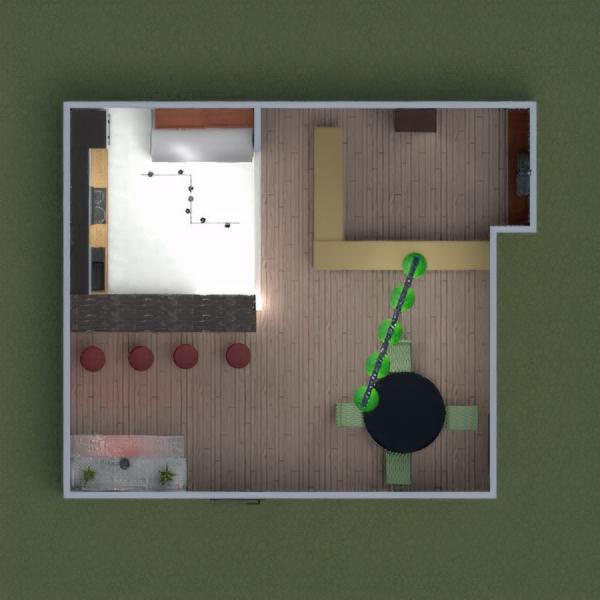 floorplans baldai virtuvė valgomasis 3d