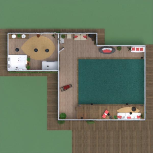 floorplans house terrace decor bathroom living room 3d