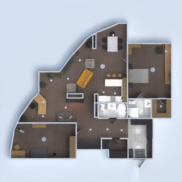 floorplans apartamento muebles decoración cuarto de baño dormitorio salón cocina 3d