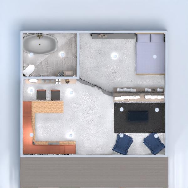 floorplans wohnung haus schlafzimmer küche 3d
