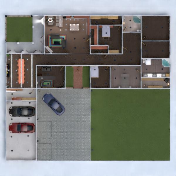 floorplans дом ванная гостиная 3d