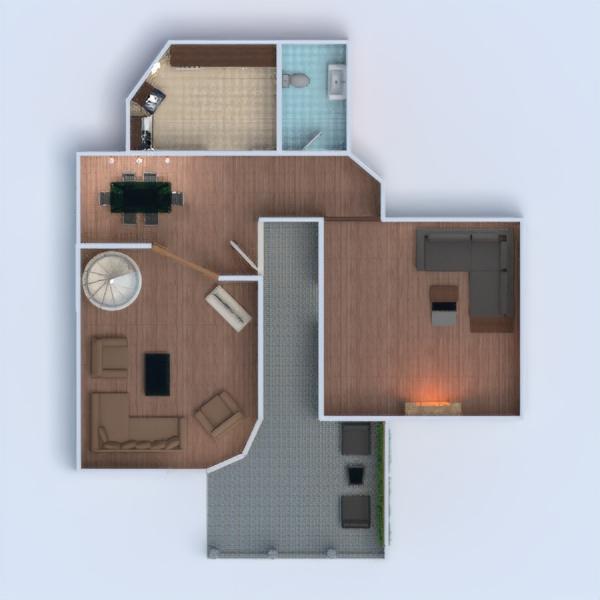 floorplans namas baldai dekoras vonia miegamasis svetainė virtuvė vaikų kambarys apšvietimas valgomasis аrchitektūra 3d