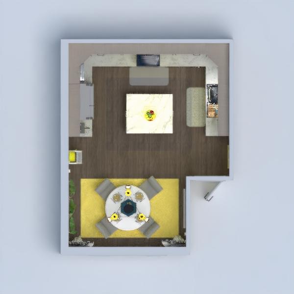floorplans décoration cuisine eclairage salle à manger 3d