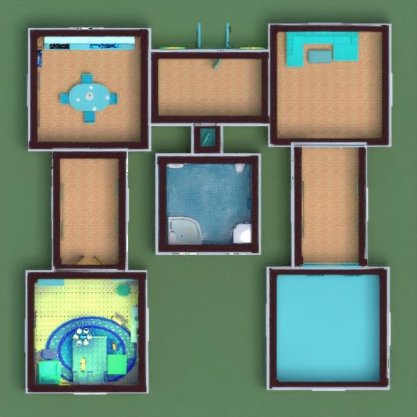 floorplans terrace furniture decor landscape household 3d