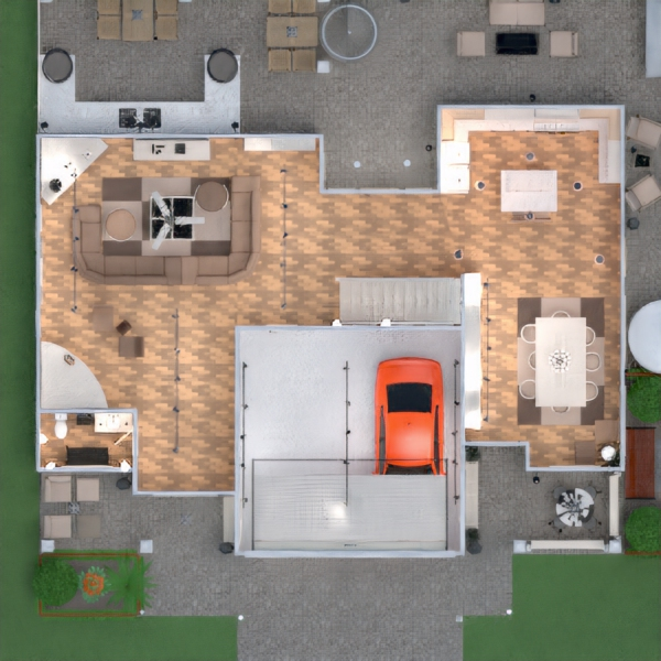 floorplans house terrace furniture decor bathroom bedroom living room garage kitchen outdoor lighting landscape household dining room architecture entryway 3d
