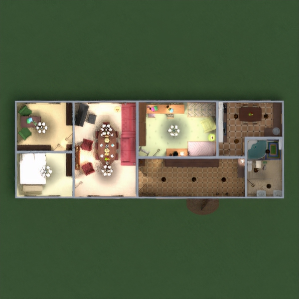 floorplans house furniture decor bathroom bedroom living room kitchen kids room dining room entryway 3d