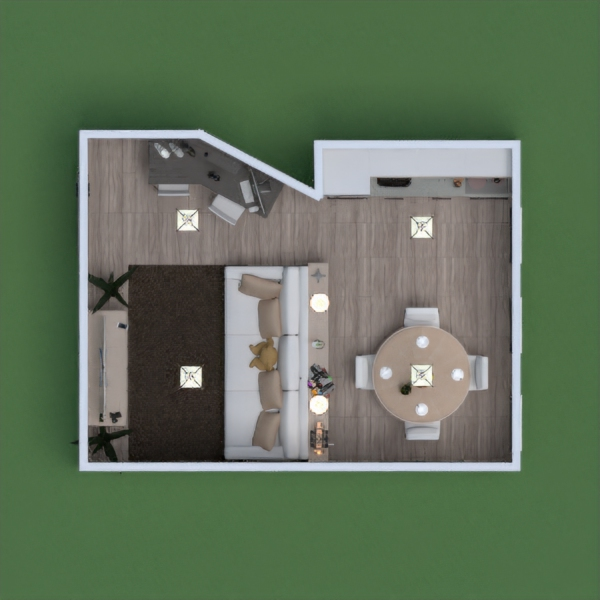 floorplans apartment diy living room kitchen dining room studio 3d