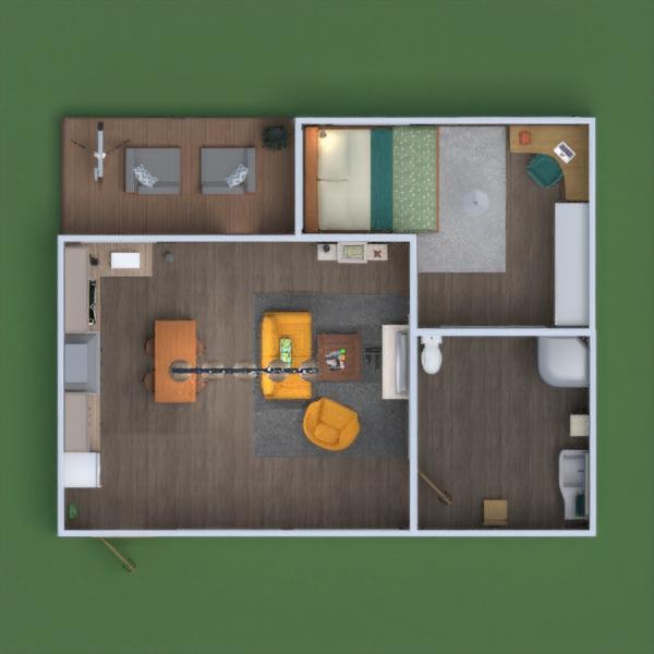 floorplans butas baldai miegamasis 3d