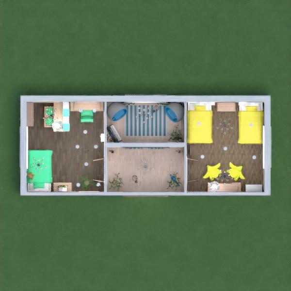 floorplans house furniture decor bedroom 3d