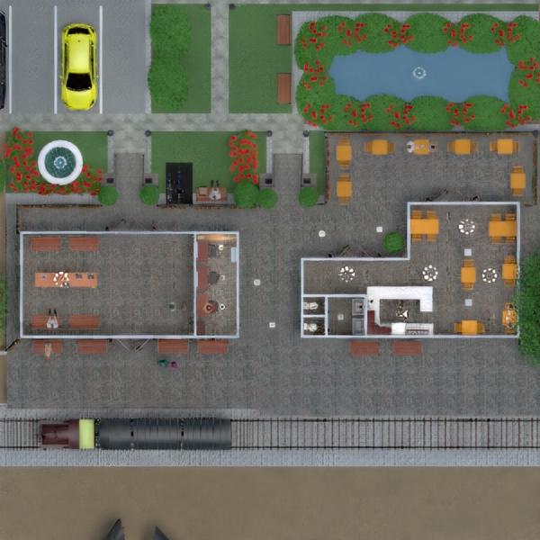 planos terraza cuarto de baño exterior despacho iluminación paisaje cafetería arquitectura descansillo 3d