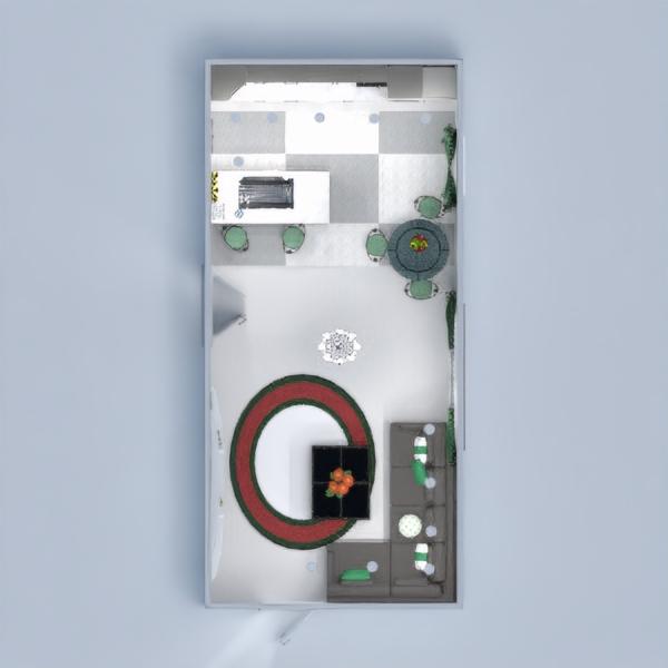 floorplans namas svetainė virtuvė apšvietimas studija 3d