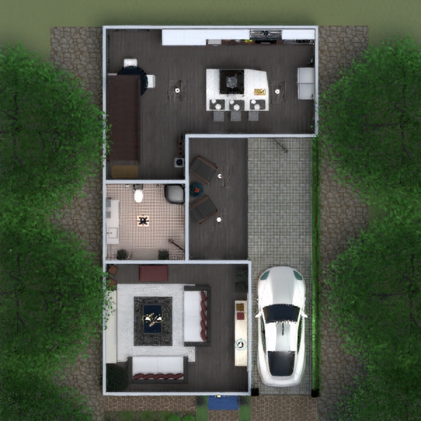 floorplans mieszkanie taras meble wystrój wnętrz zrób to sam sypialnia garaż kuchnia na zewnątrz oświetlenie krajobraz gospodarstwo domowe wejście 3d