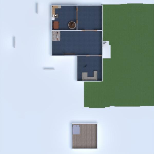 floorplans maison chambre à coucher cuisine extérieur salle à manger 3d