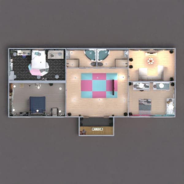 floorplans casa de banho dormitório quarto garagem utensílios domésticos 3d