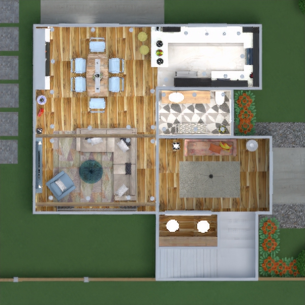 floorplans house terrace furniture decor bathroom bedroom living room kitchen outdoor lighting household cafe dining room architecture storage entryway 3d