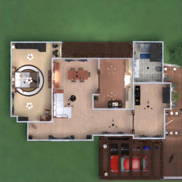 floorplans appartamento veranda arredamento decorazioni bagno camera da letto cucina monolocale 3d
