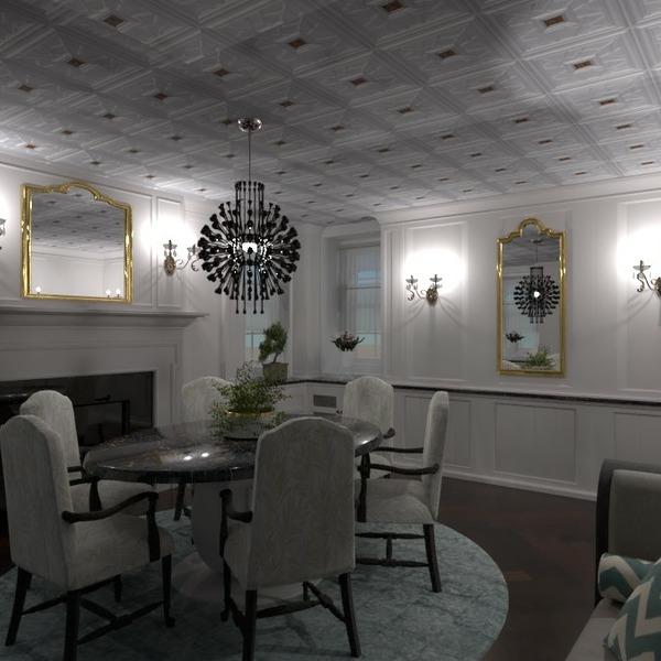 floorplans meble pokój dzienny oświetlenie jadalnia 3d