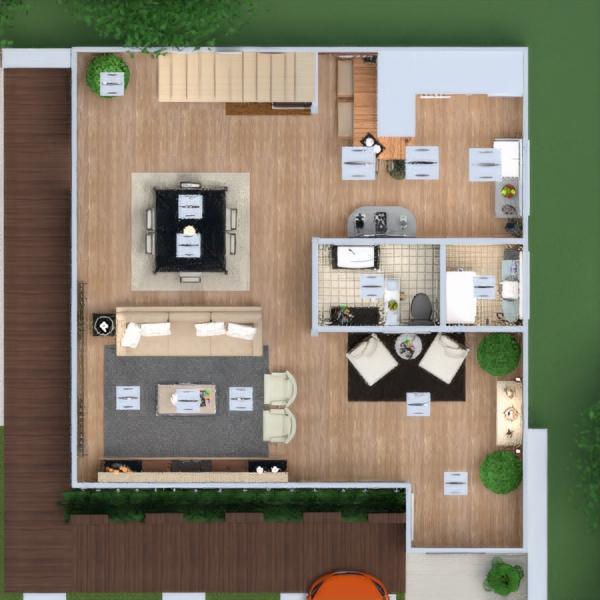 floorplans apartamento varanda inferior mobílias decoração faça você mesmo casa de banho dormitório quarto área externa iluminação paisagismo utensílios domésticos cafeterias sala de jantar arquitetura patamar 3d