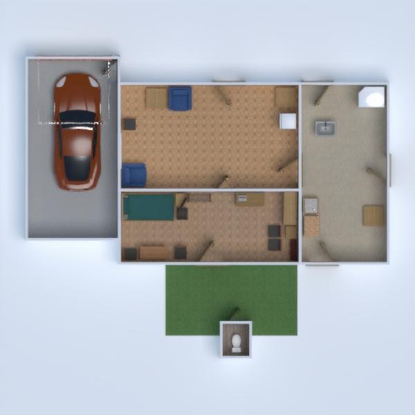 floorplans meubles salle de bains chambre à coucher salon cuisine 3d